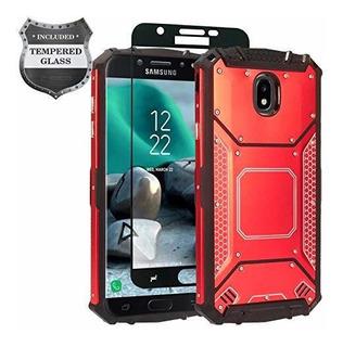 Zgen Carcasa Hibrida De Aluminio Para Samsung Galaxy J3 2018
