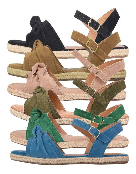 Sandálias Femininas Sola Corda Amalaia Shoes 020402-1