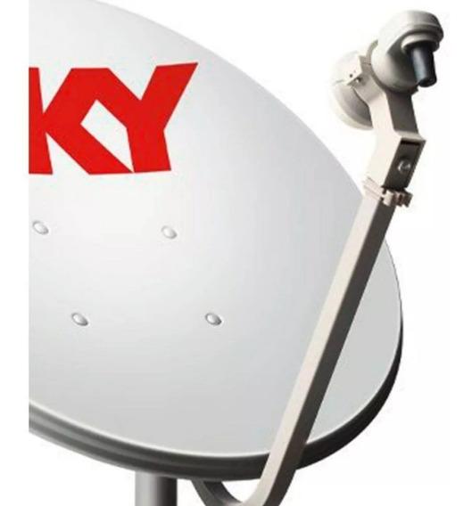 2 Antenas Ku +2 Lnb Simple 40 Mts Cabo Rg6/ Rg59 + Conector