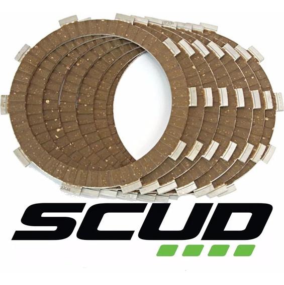 Jogo Disco Embreagem Cg/bros 125/150/160 Scud