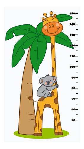 Adesivo De Parede Régua Do Crescimento Girafa Infantil Re-01