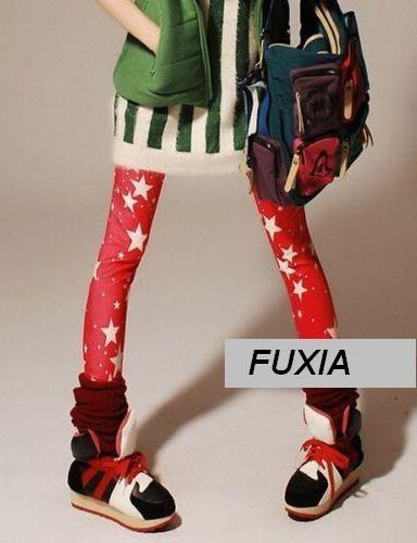 Calzas Leggins Fuxia Con Estrellas