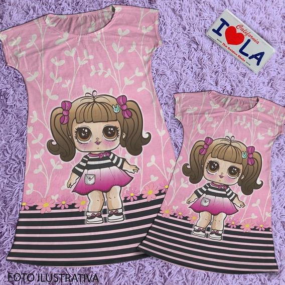 Vestido Mae E Filha Boneca Lol Hairgoals / Vestido Da Lol Cod04