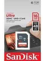 Memoria Sandisk 16gb Sdhc Ultra Uhs-i 48mb/s Clase 10