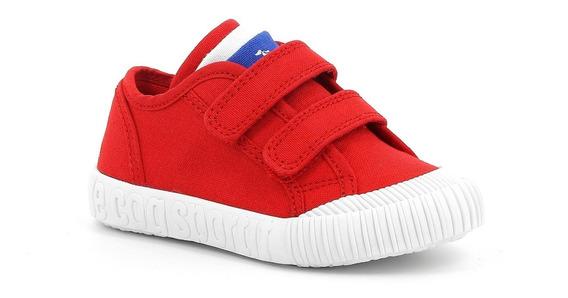 Zapatillas Lona Rojo Le Coq Sportif Nationale Inf Niños