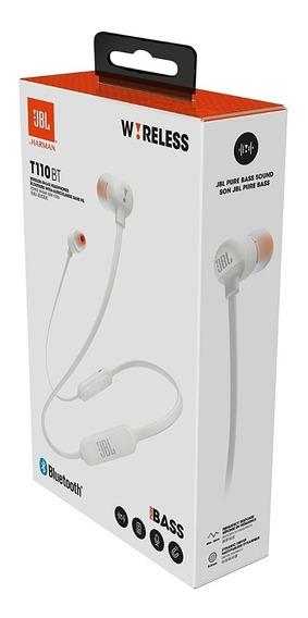 Fone De Ouvido Original Jbl T110bt Bluetooth Branco - T110