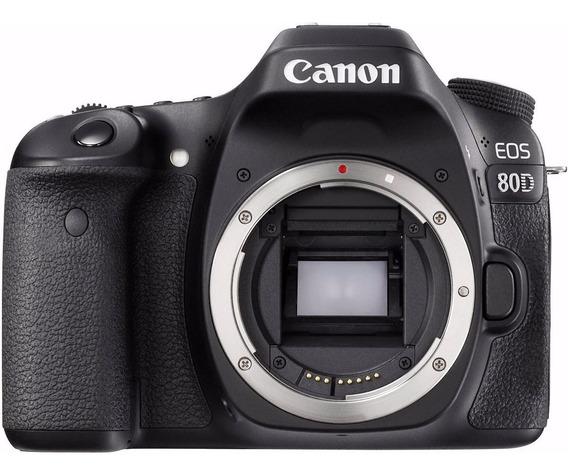 Câmera Dslr Canon Eos 80d Corpo Nota Fiscal Grantia 1 Ano