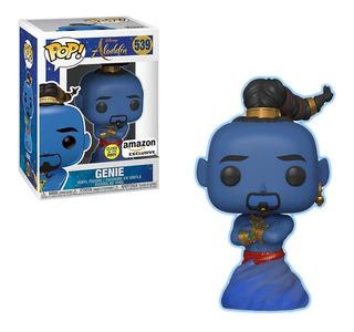 Funko Pop Aladdin Live Action Genie Glow In The Dark Excl...