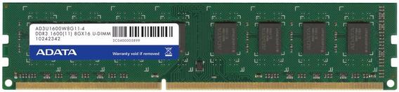 Memoria Ram Ddr3 8gb 1600 Mhz Adata