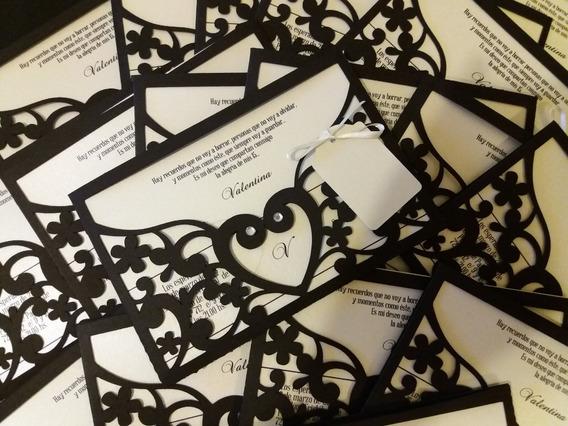 20 Tarjetas Caladas Invitación -la Plata-