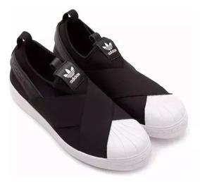 Tênis adidas Slip On Superstar Elástico Original Unissex