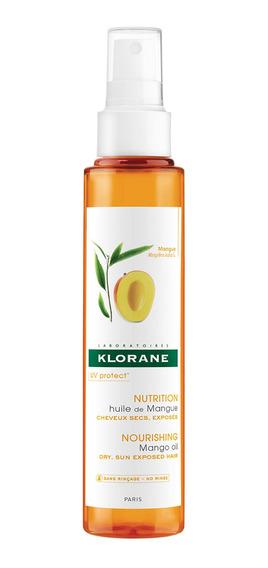 Aceite Klorane Mango Nutritivo Uv Cabellos Secos 125 Ml
