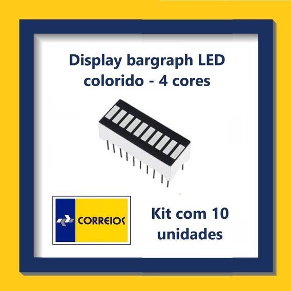 Display Bargraph Led - 4 Cores - Kit Com 10 Unidades