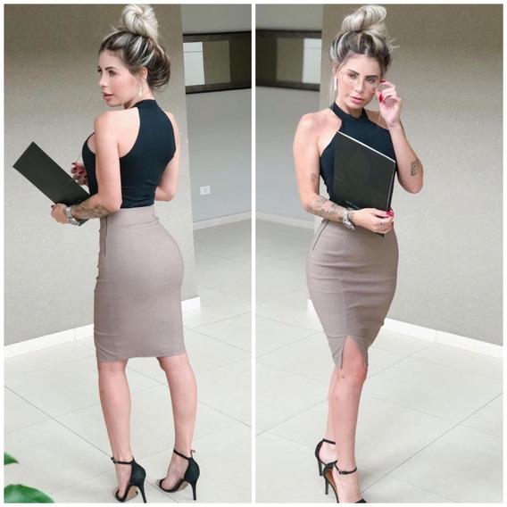Saia Midi Social Secretária Escritório Elegante Oferta #ab