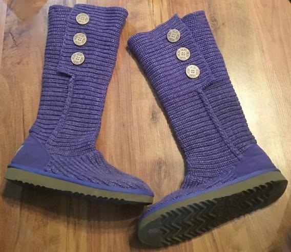 Zapatos Botas Ugg Knitt Tall Violeta 25 Originales!!