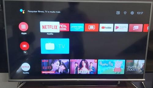 Imagem 1 de 7 de Smart Tv Tcl 50 Pol. 4k Android, Com Garantia, Loja Fisica