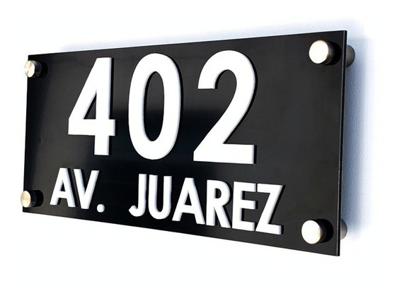 Números Residenciales De Aluminio Casa Oficina Personalizado N
