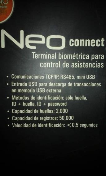 Neo Connect, Terminal Biométrico Para Control De Asistencia