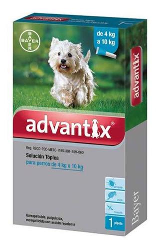 Imagen 1 de 1 de Advantix Pulgicida Perros 1ml Celeste (4-10 Kg)