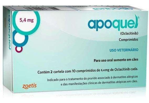 Apoquel 5,4mg Dermatológico Zoetis Cães 20 Comprimidos