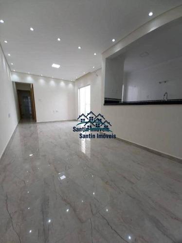 Apartamento Sem Condomínio Com 03 Quartos,(01 Suíte )fino Acabamento, Vaga Coberta  À Venda, 85 M² - Vila Metalúrgica - Santo André/sp - Ap1944