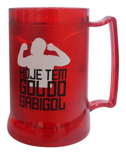 Imagem 1 de 4 de Caneca Gel Vermelha Oficial Gabigol 400ml
