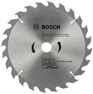 Hoja Sierra Circular Bosch Para Madera 184mm (7 1/4) 24 Die