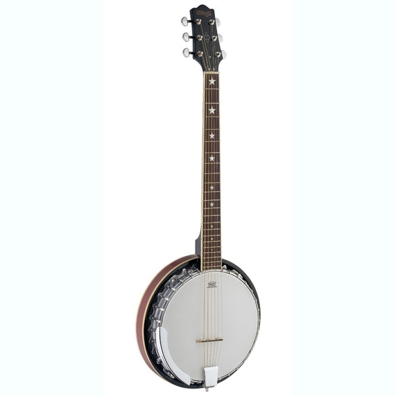 Banjo 6 Cuerdas 30 Hooks Metal Pot Stagg Bjm30 G