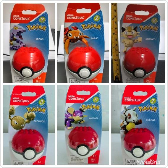 1pieza Pokebola 6cm Con Pokemon 5cm Serie2 Mega Construx Se