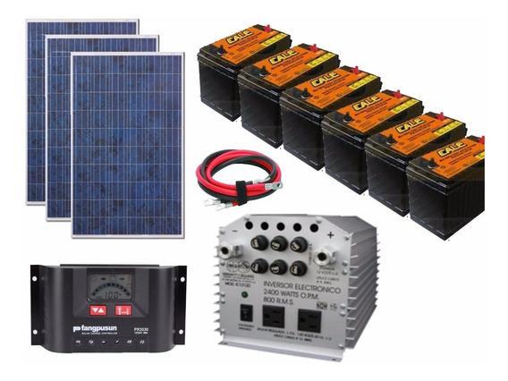Sistema Panel Solar Autonomo Isla 3000wh Diarios