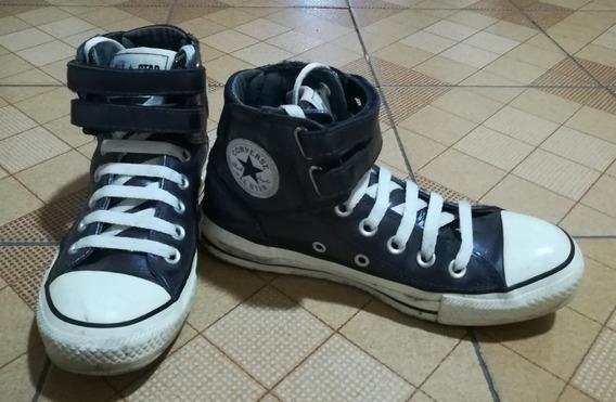 Zapatos Converse Tipo Botín Patentes Color Azul, Talla 36