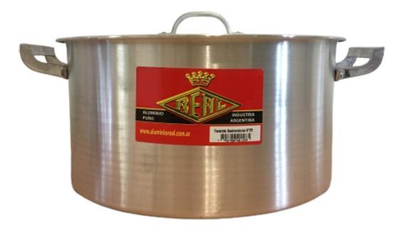Cacerola Aluminio Reforzado Real Gastronomica N34 Con Tapa 15lts Reforzada Locro