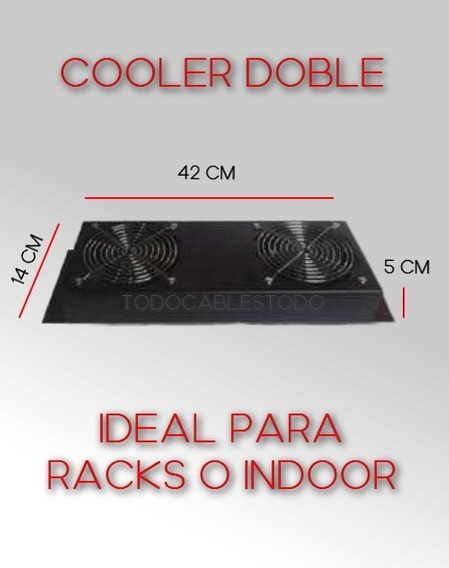 Cooler Doble Para Rack 19 Amp Tyco Fayser