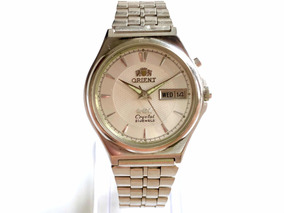 Antigo Relógio De Pulso Orient Automático Calendário 46943