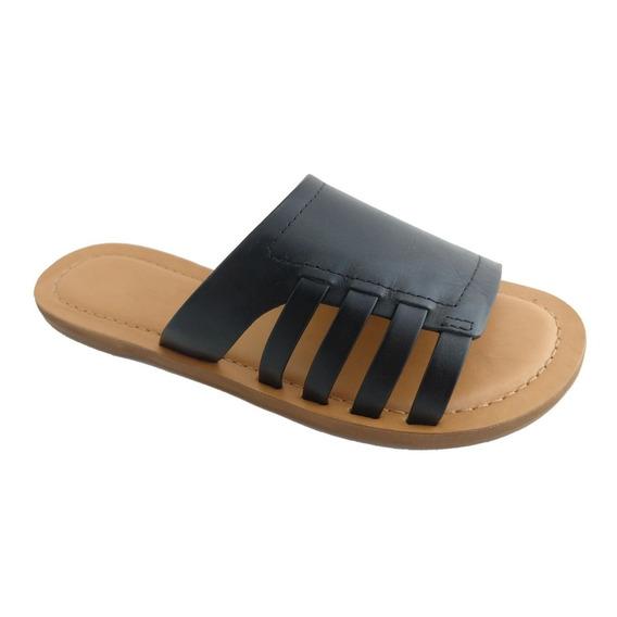 Rasteira Sapatoweb Couro Preto - Wangiepto