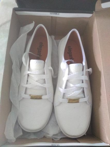 Sapatênis Casual Eleganteria Branco