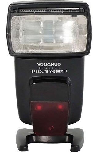 Flash Yongnuo Yn-568iii Speedlite Para Câm Nikon 12x Nota