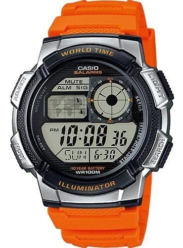 Reloj Casio Ae1000 5 Alarmas Buceo Hora Mundial