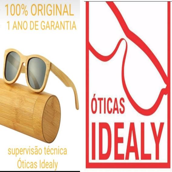 Óculos De Madeira De Lei
