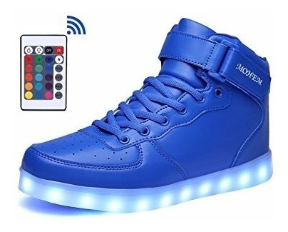 Tenis Led Control Remoto, Carga Usb, Hombre / Mujer / Unisex