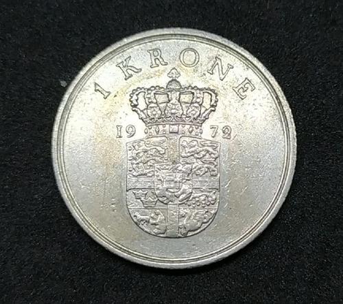 Dinamarca - Moneda De 1 Krone - Año 1972