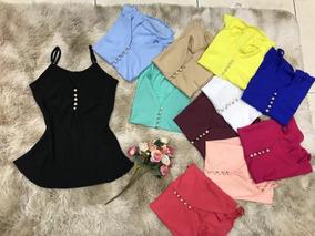 e8fcd1d8c2 Regatas Pedraria Amarela - Camisetas e Blusas no Mercado Livre Brasil
