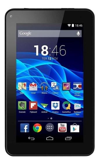 Tablet Multilaser M7s Quad Core Preto Android 4.4 Kit Kat
