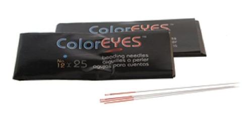 Beadsmith Coloreyes Beading Needles-25unidades Por Paquete