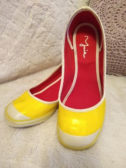 Divinos Zapatos Tipo Guillermina Taco Chino