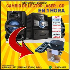 Cambio Lector Laser De Cd,s - Aiwa Sony Jvc Philips Y Otros
