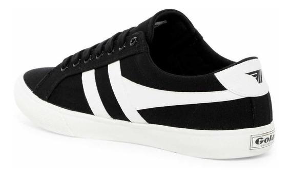 Zapatillas Gola Modelo Varsity Color Negras Con Blanco