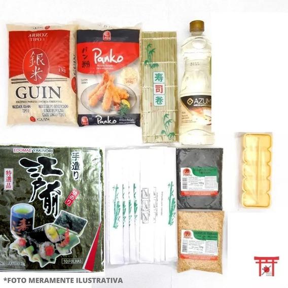 Kit Sushi/hot Roll 9 - Sem Barco Tare Wasabi Shoyu Molheira