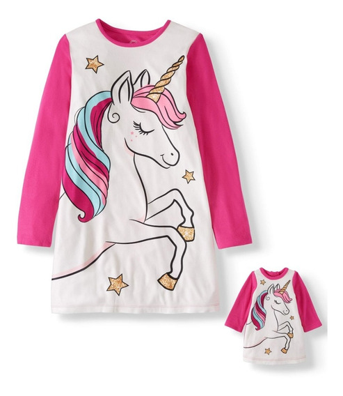 Pijama Unicornio Niña Franela Set De 2 Piezas/c4