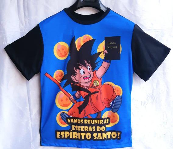 Camiseta Masculina Normal Anime Dbz Cristã